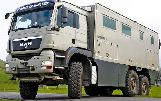 Action Mobil Globecruiser: Camper, Tank, Bombshelter