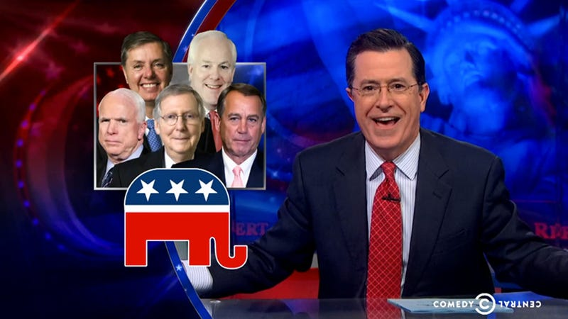 Stephen Colbert Knows Exactly How to Solve The GOP's Woman Problem
