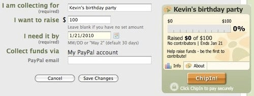 ChipIn Simplifies Collecting Cash For Group Giving