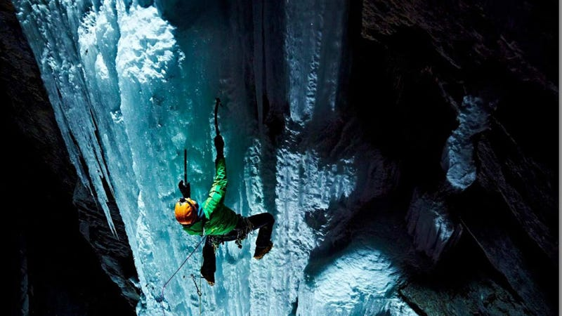 Lighting Climbers On A Sheer Ice Wall Basically Guarantees Amazing Photos