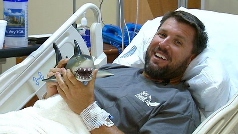 This Man's Shark Attack Story Might Be The Most Boring Thing About Him