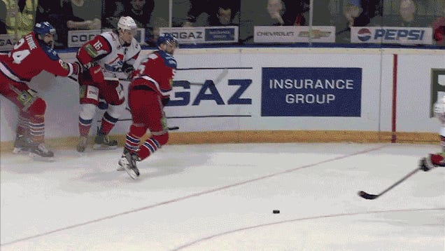 KHL Player Scores Incredible Juggling Goal