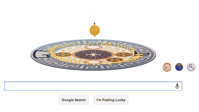 Google honors French physicist with interactive pendulum doodle