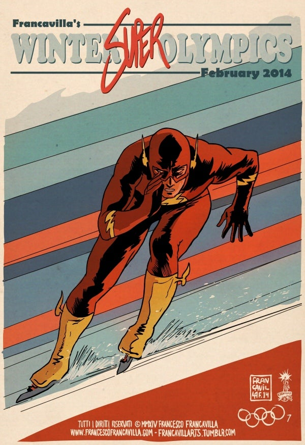 If superheroes competed in the Olympics what would their events be?