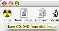 Mac Tip: How to burn an .iso or .dmg file to disc