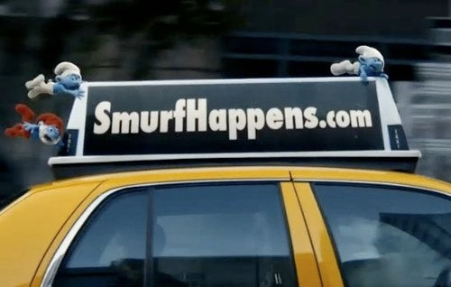 "Nothing says ""Our civilization is doomed"" like the first Smurfs teaser trailer"