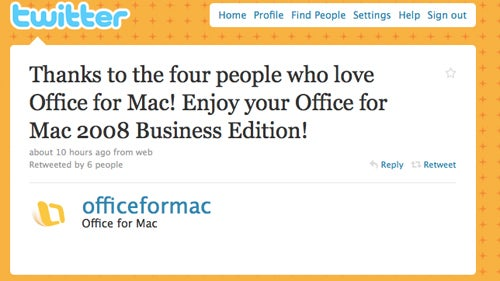 At Least Office for Mac Has *Four* People Who Love It...
