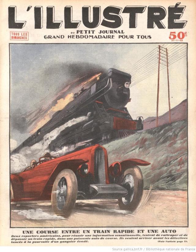 Una carrera entre un tren rápido y un auto