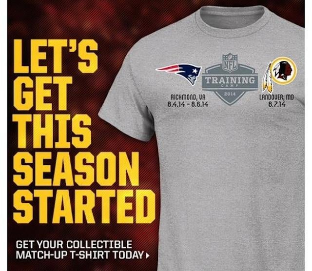Do Not Buy This Patriots-Redskins Training-Camp Shirt