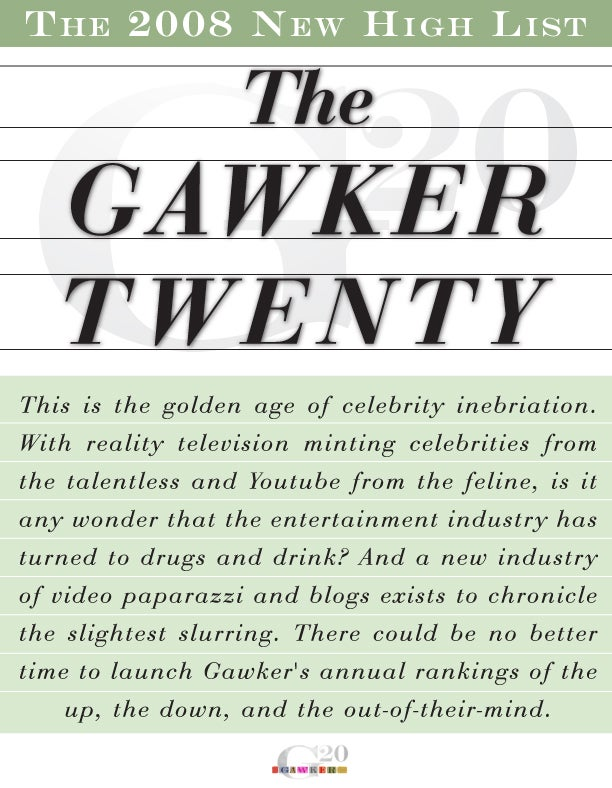 The Gawker Wasted 20