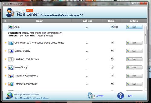 Microsoft Fix It Center Beta Guides You Through Common Windows Problems