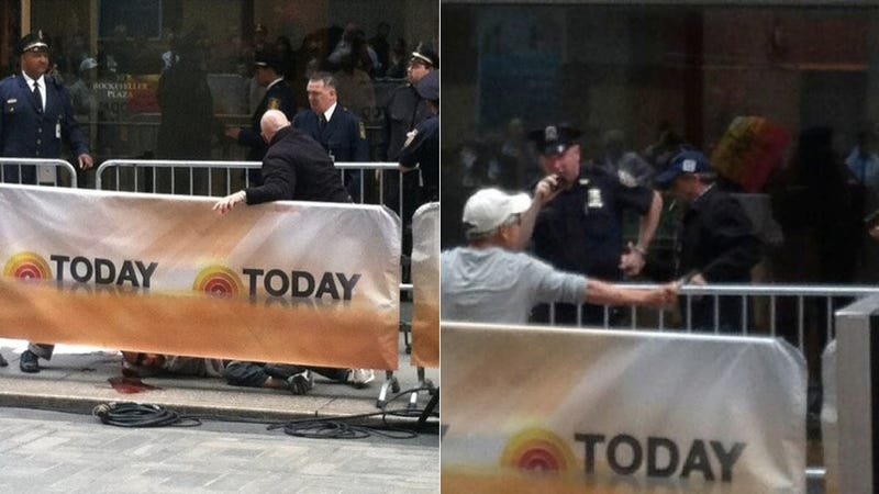 Cops Tackle Knife-Wielding Man as He Stabs Himself Outside Today Show