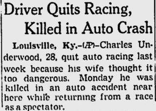 Racing Is Not Too Dangerous. You Could Get Killed In Traffic Next Week.