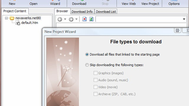 Fresh WebSuction Downloads Entire Web Sites for Offline Viewing