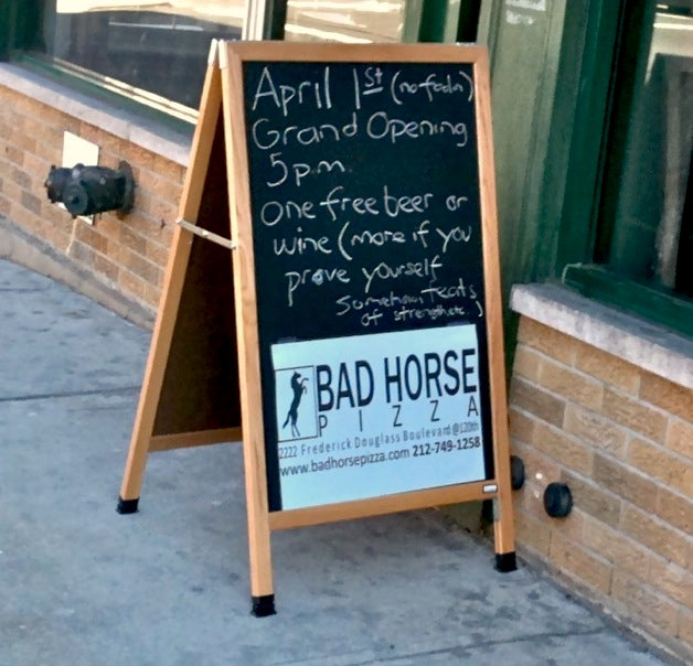 The Evil League of Pizza: Dr. Horrible's Bad Horse has opened a restaurant!