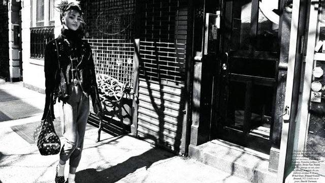 Sasha Pivovarova Does Early '80s Madonna For Vogue Paris
