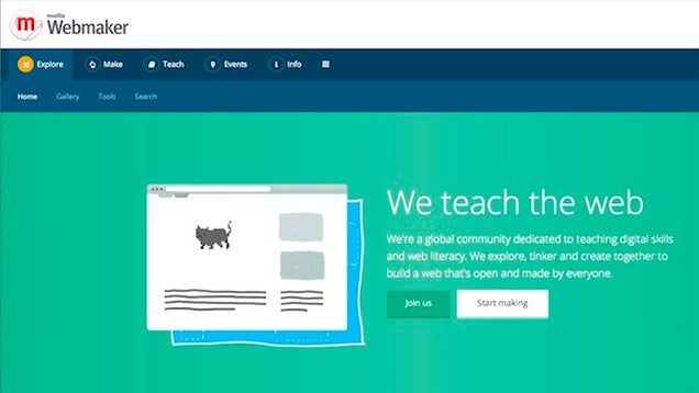 Mozilla Webmaker Teaches You How to Build Web Sites, Apps, and More
