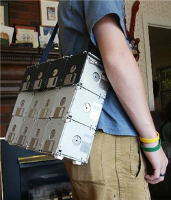 DIY floppy disk bag