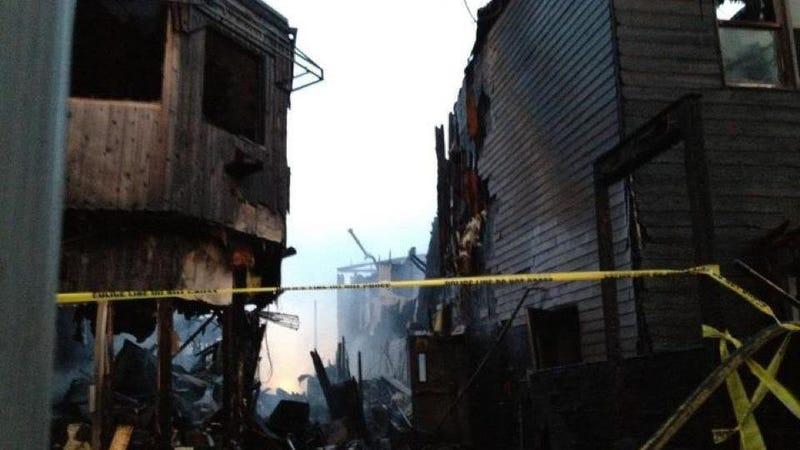 The Wreckage of Last Night's Fire Island Fire