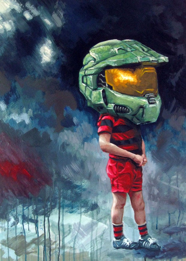 Master Chief Is...An Australian boy in Tiny Shorts