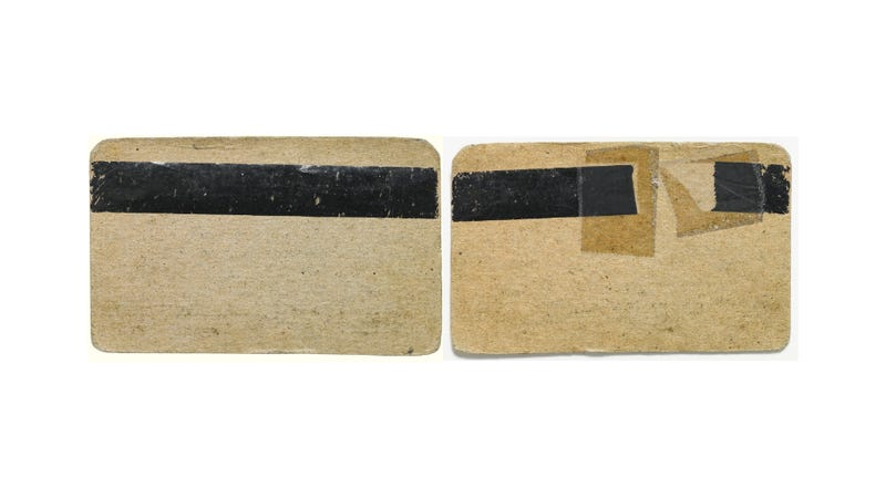 This Credit Card Prototype Is So Old It's Made Out of Cardboard