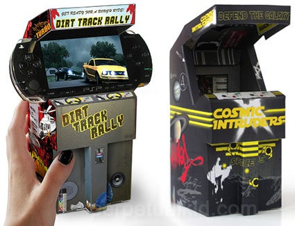 Flatpack Cardboard Mini Arcade Pimps Your PSP Into Something Awesome