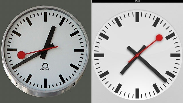Apple Totally Stole the Design of the iOS 6 iPad Clock