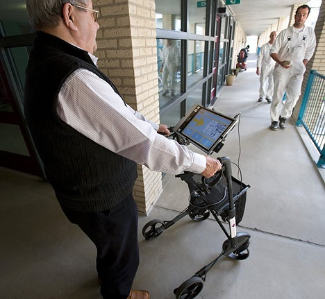 SatNav system for Zimmer Frames for Those Senior Moments