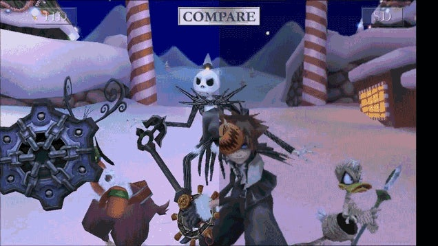 Kingdom Hearts 2 on PS2 Versus PS3
