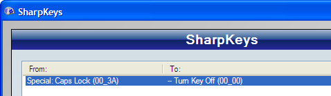 Disable and Remap Any Key with SharpKeys