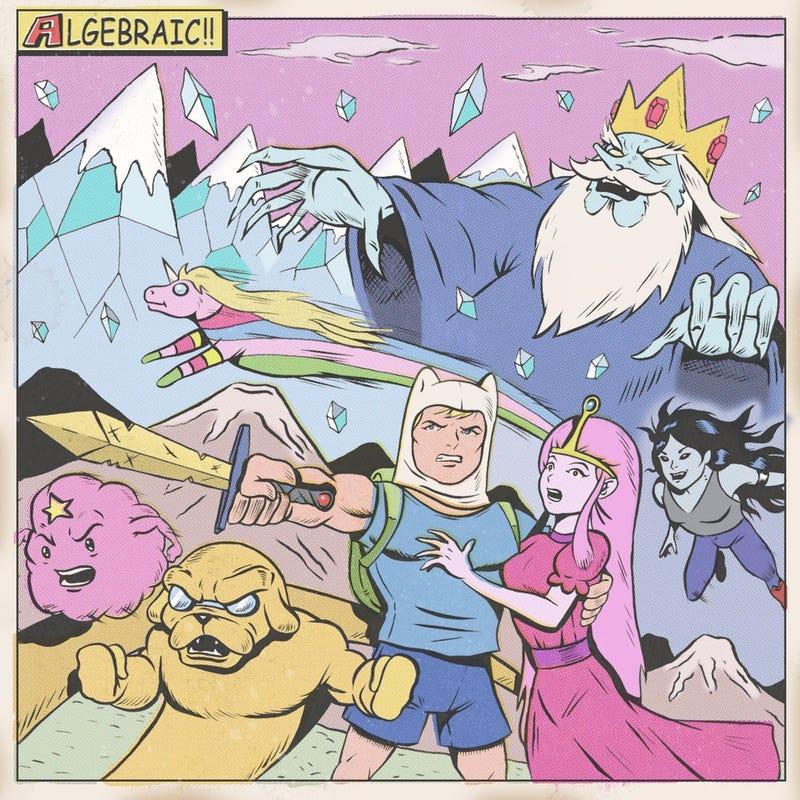 What if Adventure Time and Futurama were retro comic books?