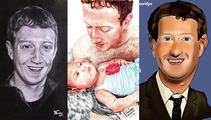 The Bizarre World of Unsolicited Mark Zuckerberg Fan Art