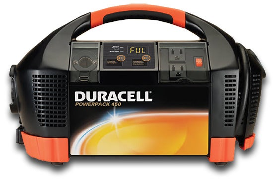 The Duracell Powerpack 450 Talks You Through a Jump Start