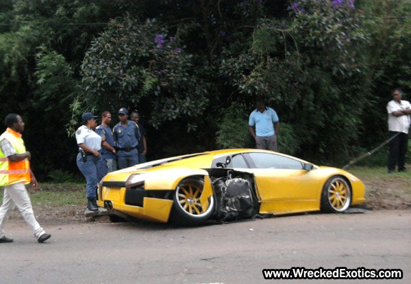 Lamborghini Murcielago LP640, Ferrari F430 Crash Photos
