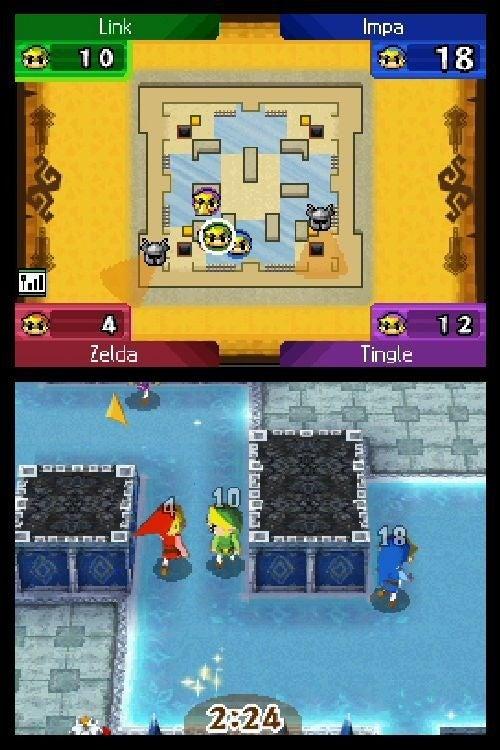 Behold, Spirit Tracks Multiplayer Screens