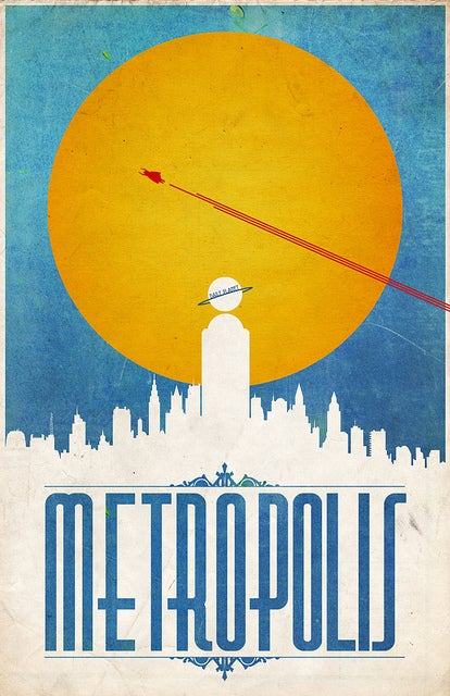Retro travel posters from the great comic book cities