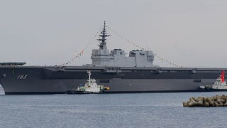 Japan's Latest Destroyer Sure Looks Like An Aircraft Carrier!