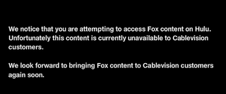 News Corp Bans Cablevision Customers From Watching Hulu