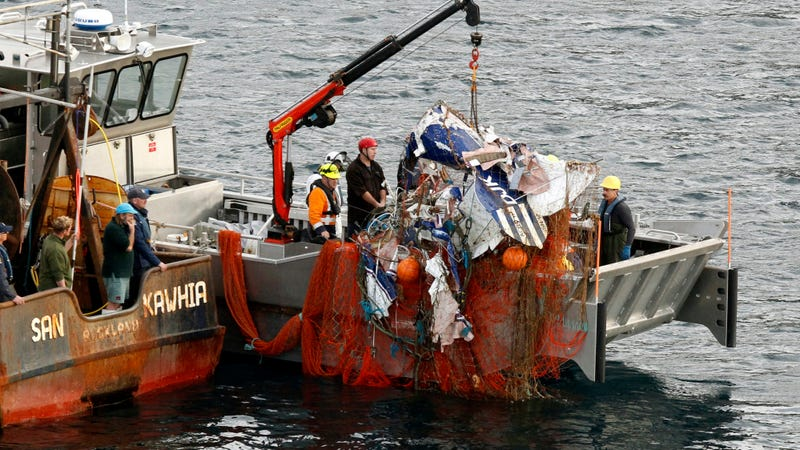 Fishing Boat Hauls In Plane Wreckage Along With Its Catch