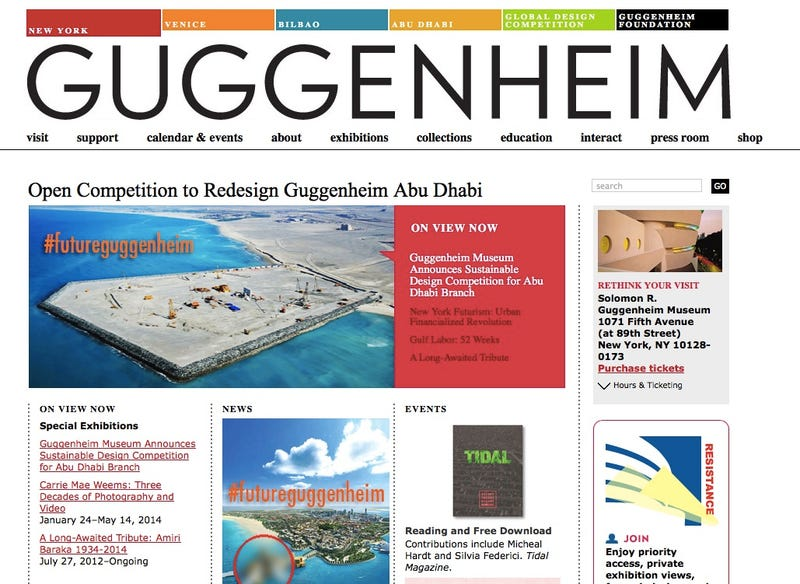 Protests Heat Up Against the Guggenheim's New Museum in Abu Dhabi
