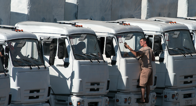 Ukraine Says It Destroyed Russian Military Convoy Entering the Country