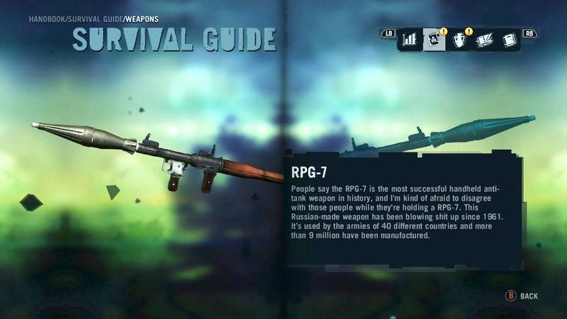 The Weapons In Far Cry 3 Are Great, But The Weapon Descriptions Are Even Better