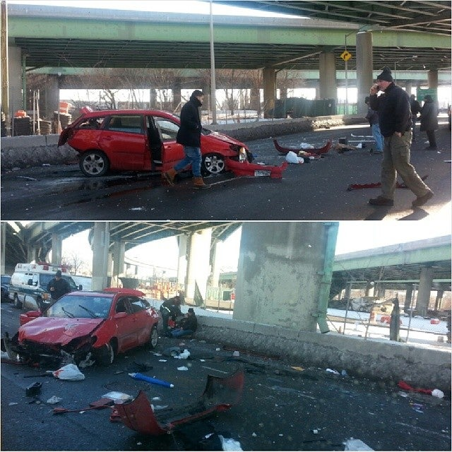Passengers Miraculously Survive After Car Leaps 50 Feet Off Expressway