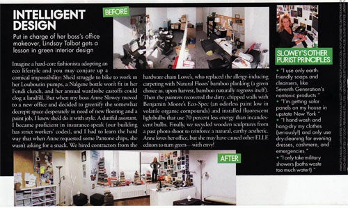 "Between The Covers: Anne Slowey's Kinda Nasty-Ass ""Elle"" Office"