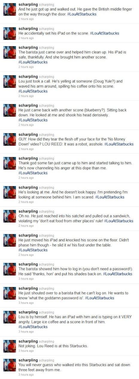 So Lou Reed Walks Into A Starbucks