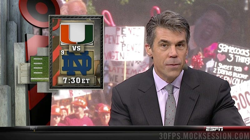 """pEnis peniS Penis vagiNa"": Your Roundup Of The Best Signs Behind The College Gameday Crew"