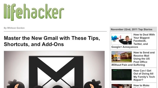 Subscribe to the Lifehacker Newsletter for our Top Stories Delivered to Your Inbox for Post-Turkey Reading