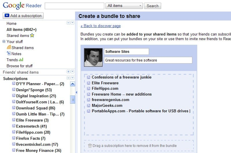 Google Reader's New Bundles Make Sharing Feeds User Friendly