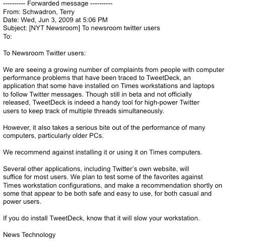Twitter Addicts Bringing Down New York Times Computers