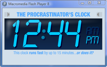 Download of the Day: The Procrastinator's Clock (Windows/Mac/web)